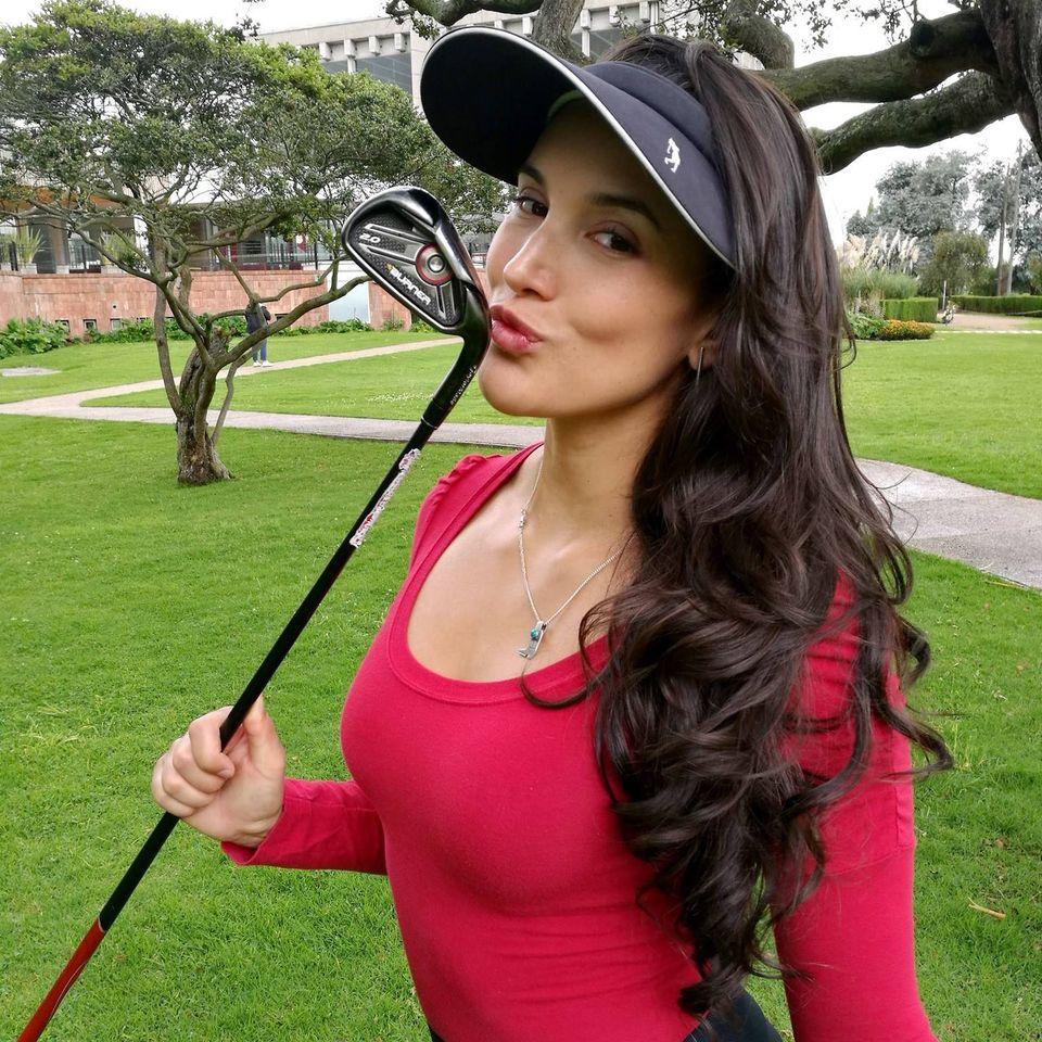 Golfer girl fitness