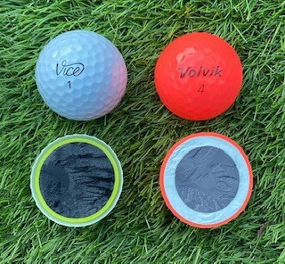 Best beginner golf balls tested and cut in half