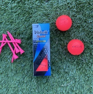 Volvik crystal golf balls for distance
