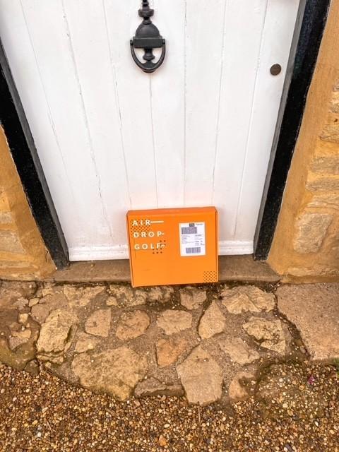 airdrop golf box on doorstep.