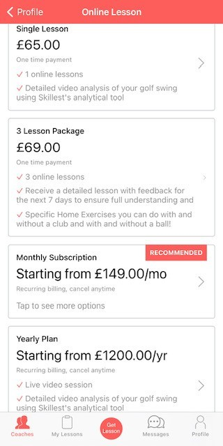 Skillest Example Pricing UK