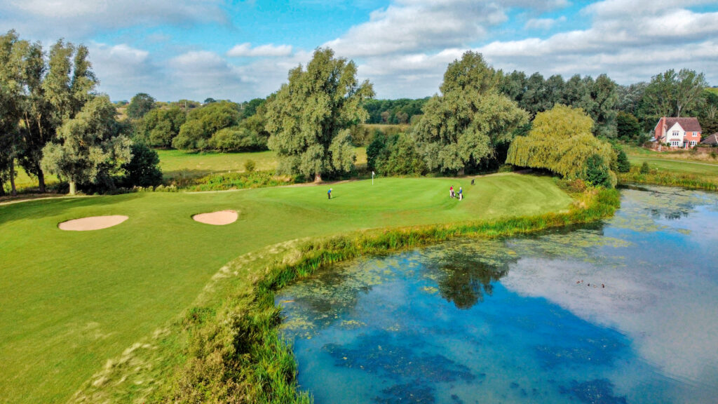 golf course drone photography