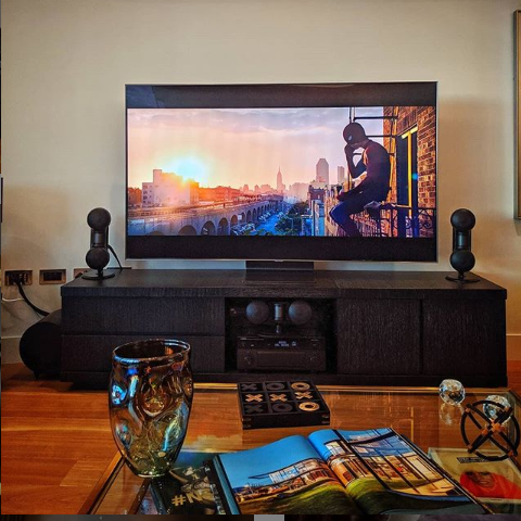 Image of TV with speakers