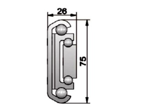 FOB75 Precision Full Extension. Length 550mm. Load 315kg