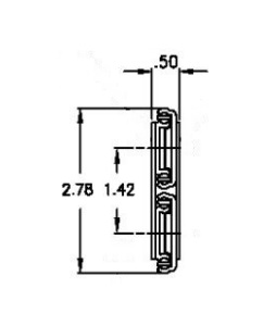 Chassis Trak LBS-21-LO (72-113kg/pr) Lock Out
