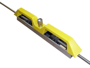 Front Locking Handle - Heavy Duty, Non Corrosive: Black/Yellow