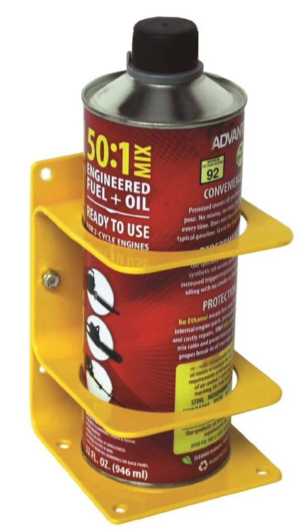 "Large Can Holder - Dia. up to 3-3/8"" (85mm). Yellow Steel"