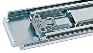 Container Red Slide Non-Locking. Heavy Duty/ Hi-Load (180-250 kg/pair) - Pair Pricing