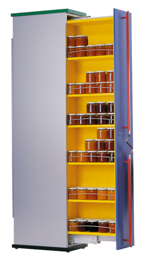 FR775-A (75kg) Pantry Pull Out Slide with ECD. Powder Coated White