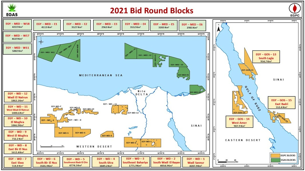 2021 Bid Round Map