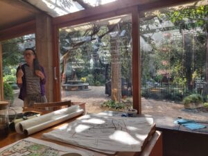 permaculture practice giulia in dining room classroom