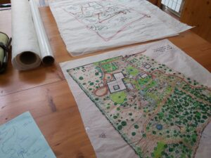 Permaculture learning - masterplan drawing