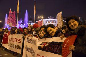 Mujeres del Teatro, el Cine y la Música juntas en el 8M: Galería de fotos