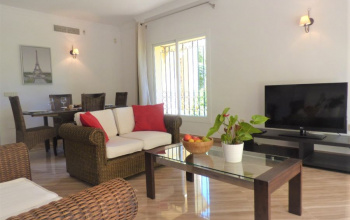This stunning Garden floor Apartment is located in the beautiful Resort of Hacienda Elviria, Very Close to all the Local Shops and renowned Restaurants in Elviria Center.  The Apartment Comes with..  2 Large Bedrooms with fitted Wardrobes 2 Bathrooms with dual sinks, one of which is an En suite Large living room with dining area and separate large fully fitted kitchen Open terrace with private garden receiving sun all day long with direct access to the communal pool and tropical gardens.  Live In The Dream with Kosta Kasa  call now for a viewing!