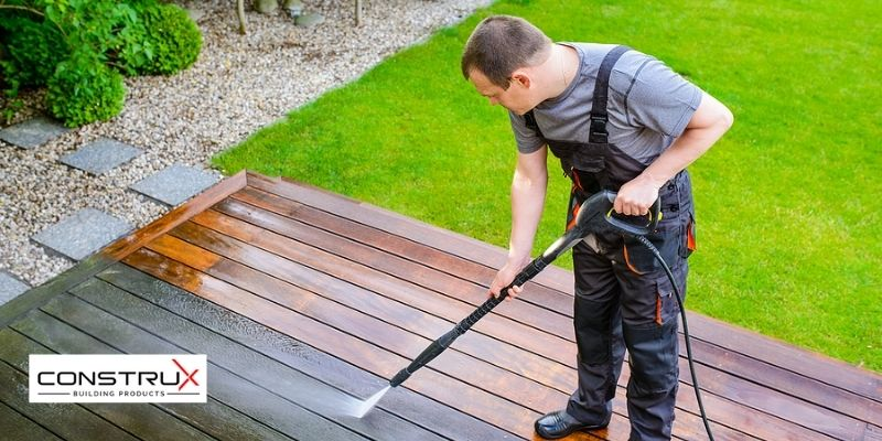 Get Rid of Old stain on deck