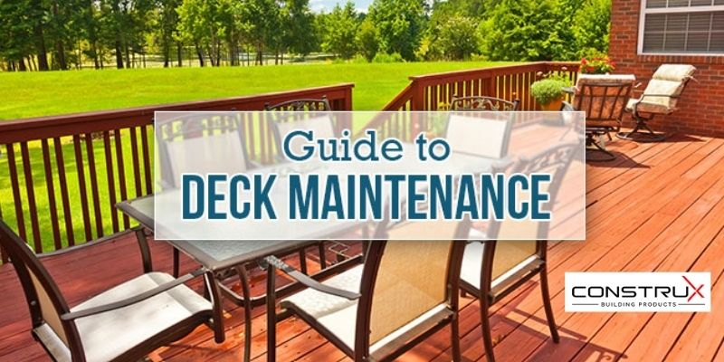 tips for maintaining your deck