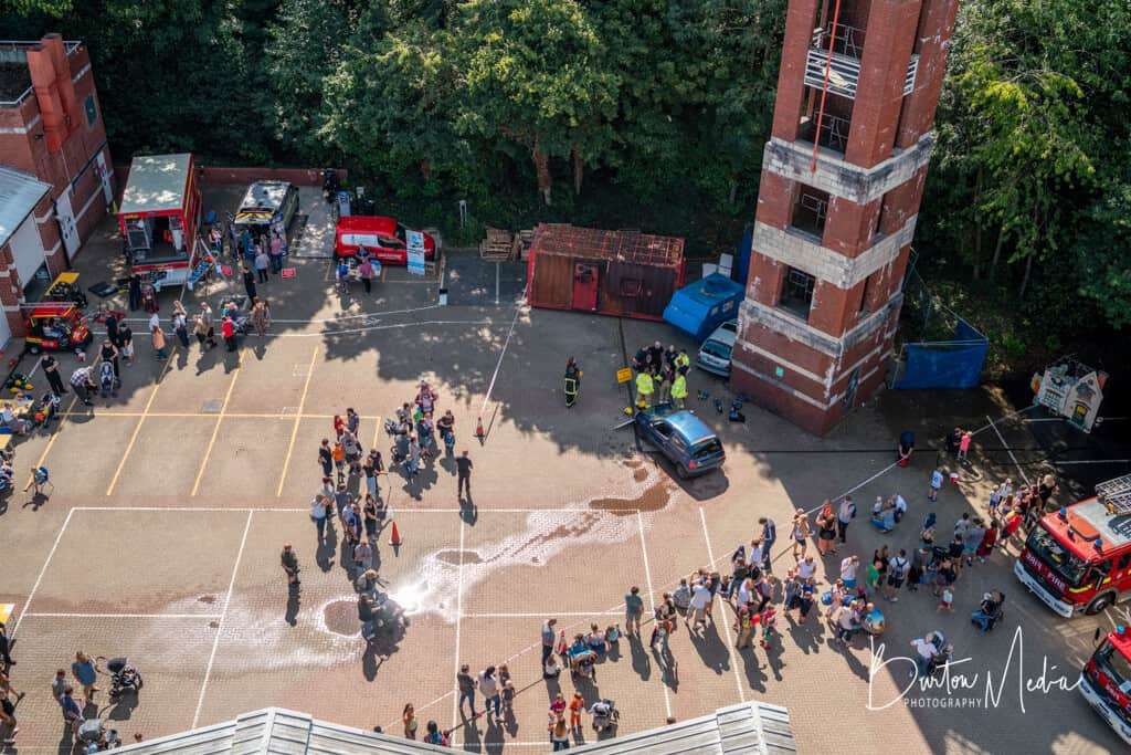 Rushmoor Fire Station Open Day 2019 Aerial Shot