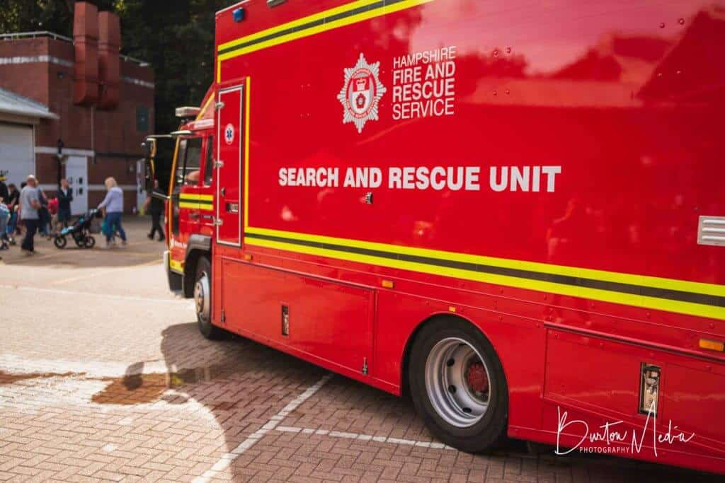 Hampshire Fire Urban Search and Rescue (USAR) Search and Rescue Unit vehicle