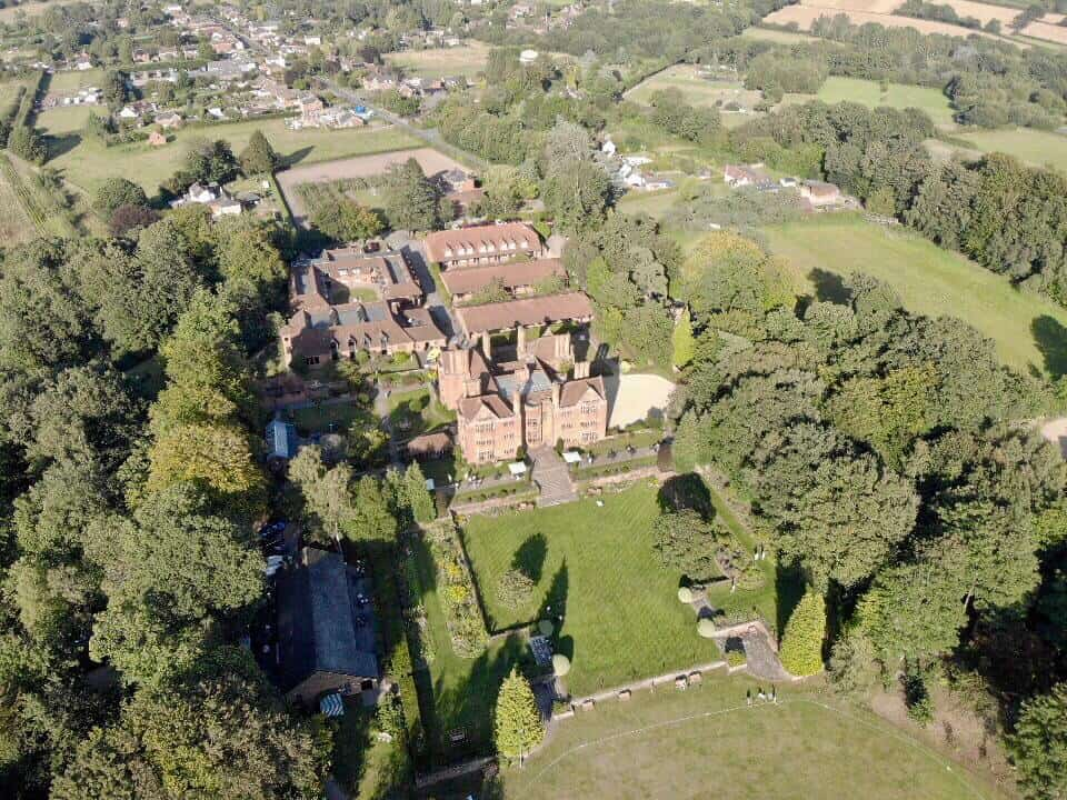 Aerial shot of New Place Hotel Southampton