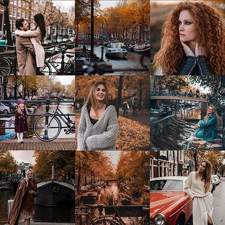 Autumn Presets Package - 9 amazing presets for Lightroom to give your photos magical autumn glow.