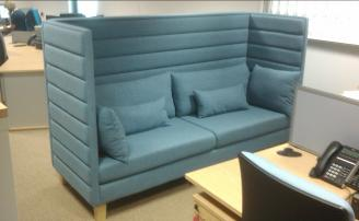 High Bank Enclosed Reception Sofa