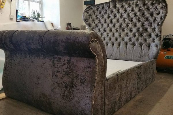 Luxury Deep Crystal Buttoned Bed