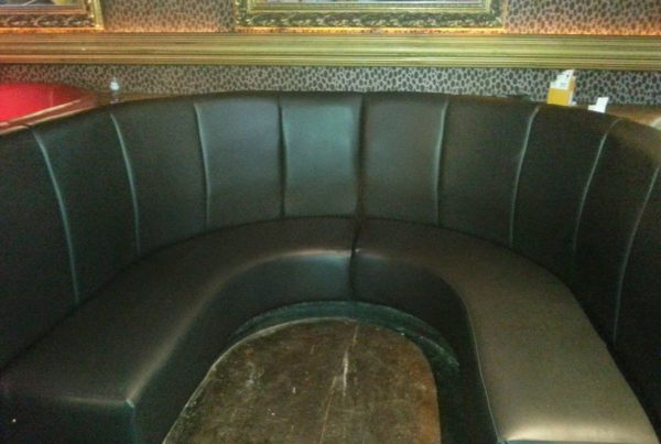 Re-Upholstered Seating Booths – Chilli White Leeds