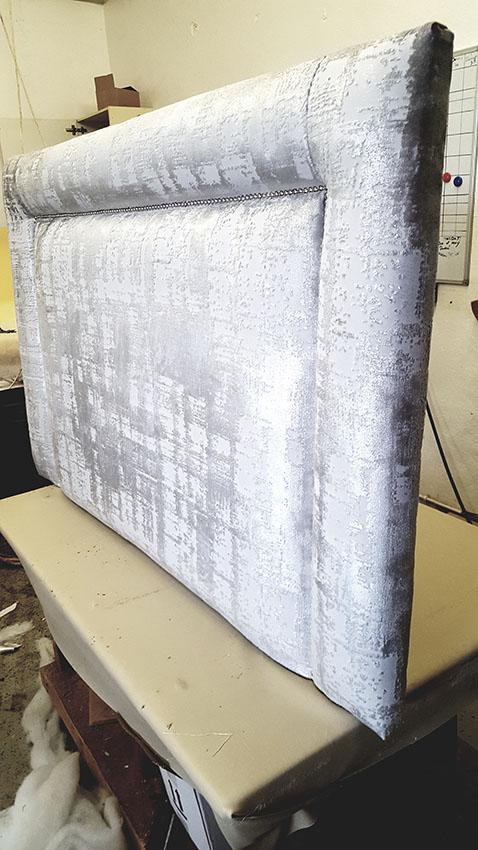 bespoke covered headboard