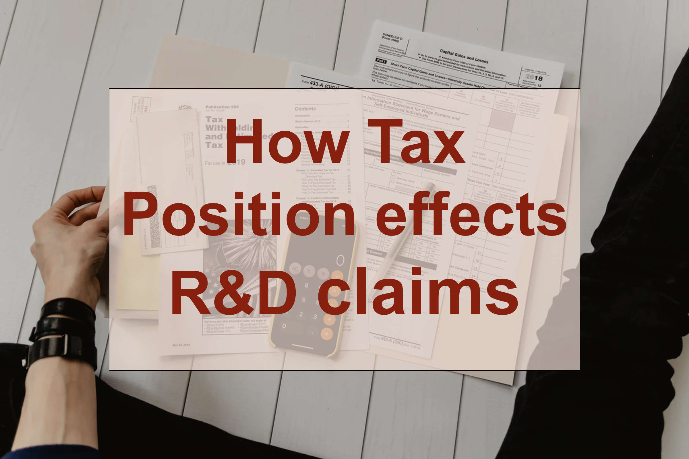 How tax position effects R&D claims