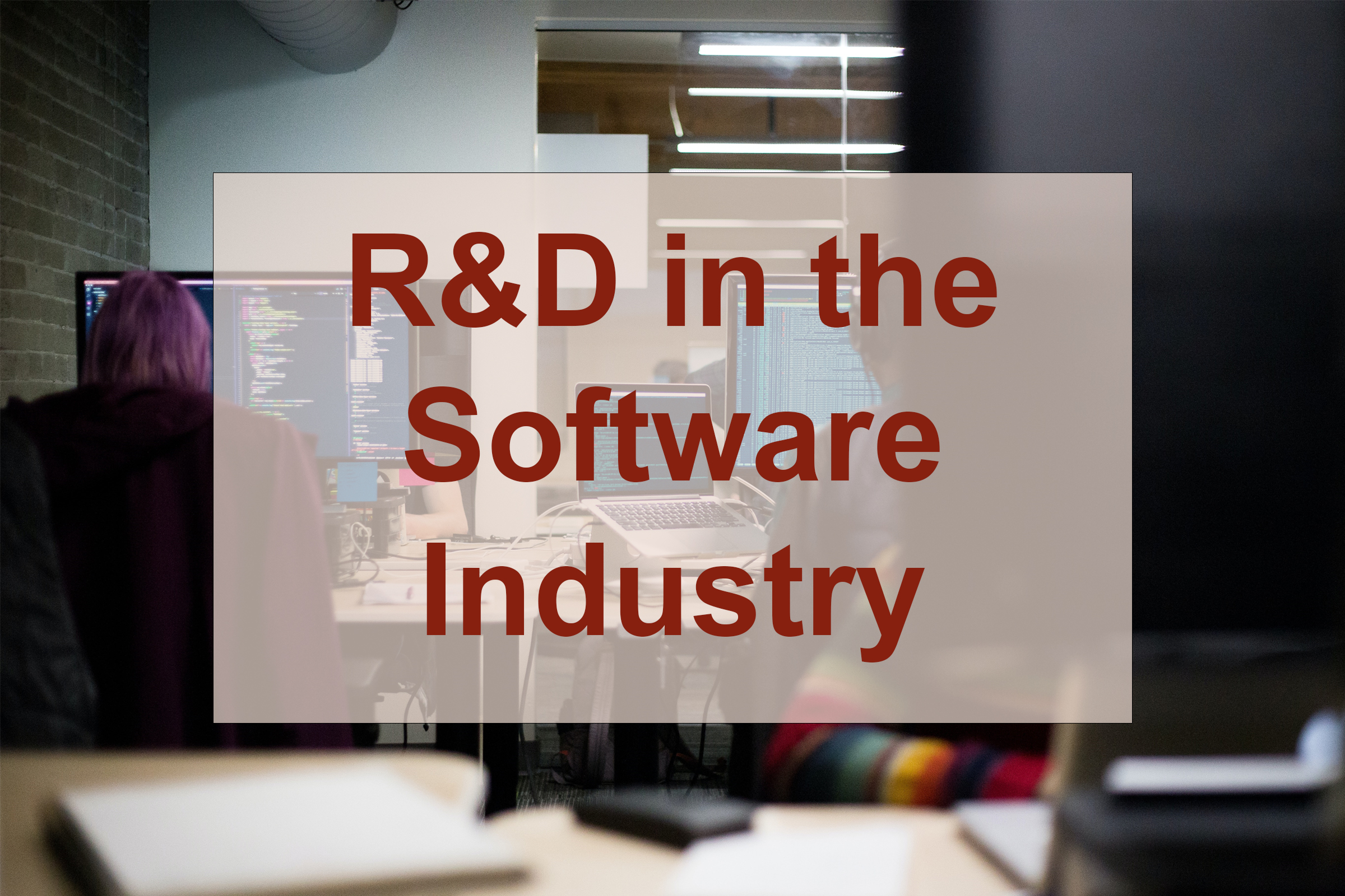 R&D in the Software Industry
