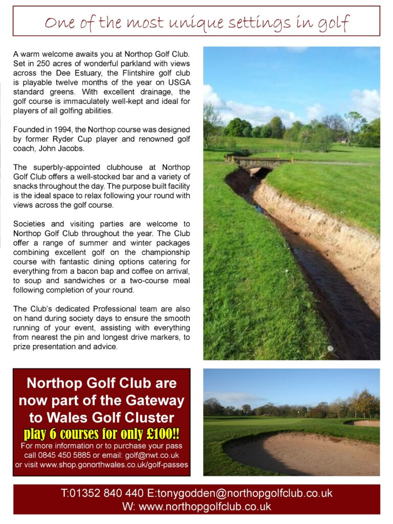 Northop Golf Club as recommended by your golfer magazine