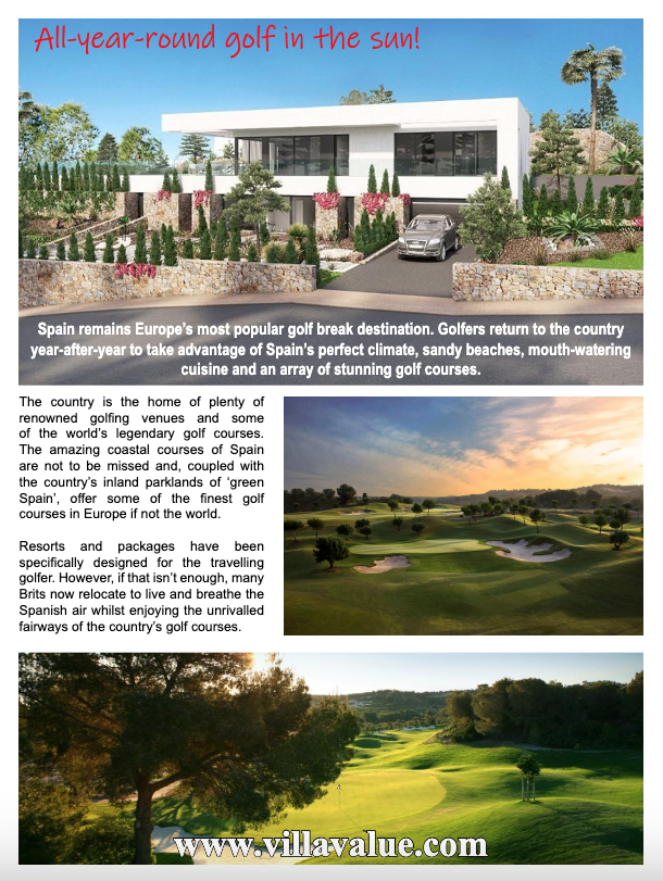 Villa Value Spain Special Edition from Your Golfer Magazine