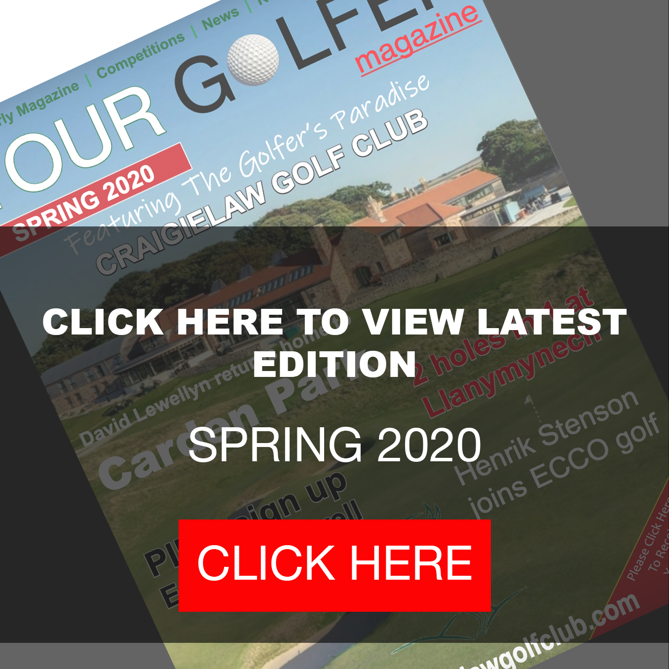 Your Golfer Magazine Spring 2020 Edition