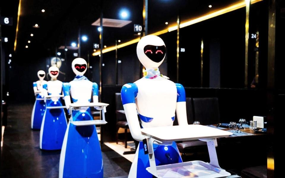 Robot themed restaurant in Bangalore