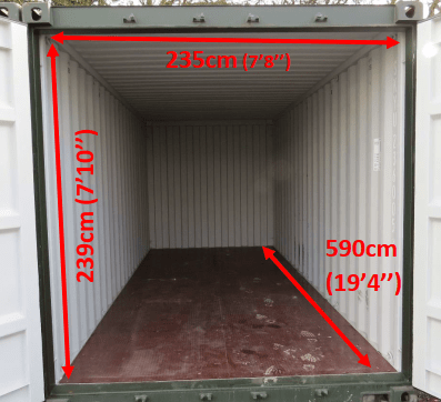 20 foot Storage Containers in Haverhill