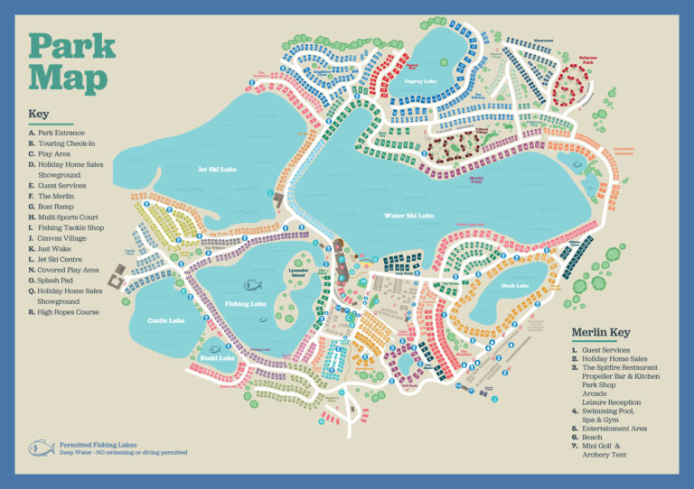Tattershall Lakes Park Map