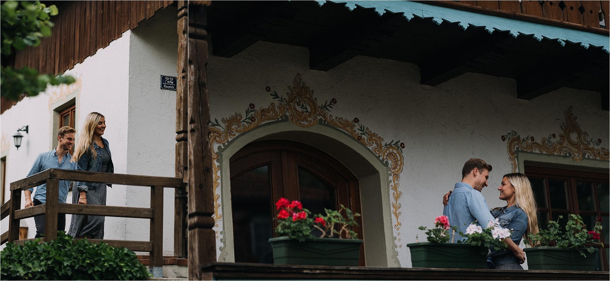 Beautiful Bavarian houses decor around Chiemsee