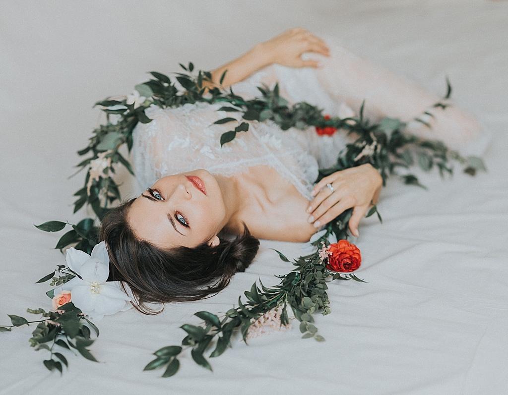 Romantic Novelle Bridal Boudoir Session | Luliia