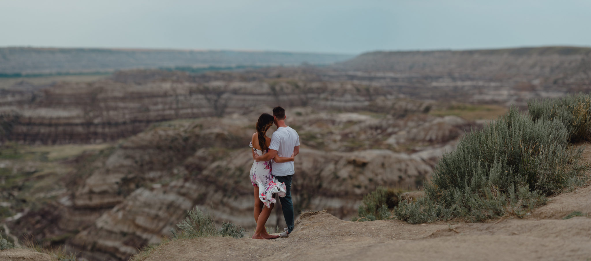 Romantic Drumheller Couples Adventure Session | Britney + Andy