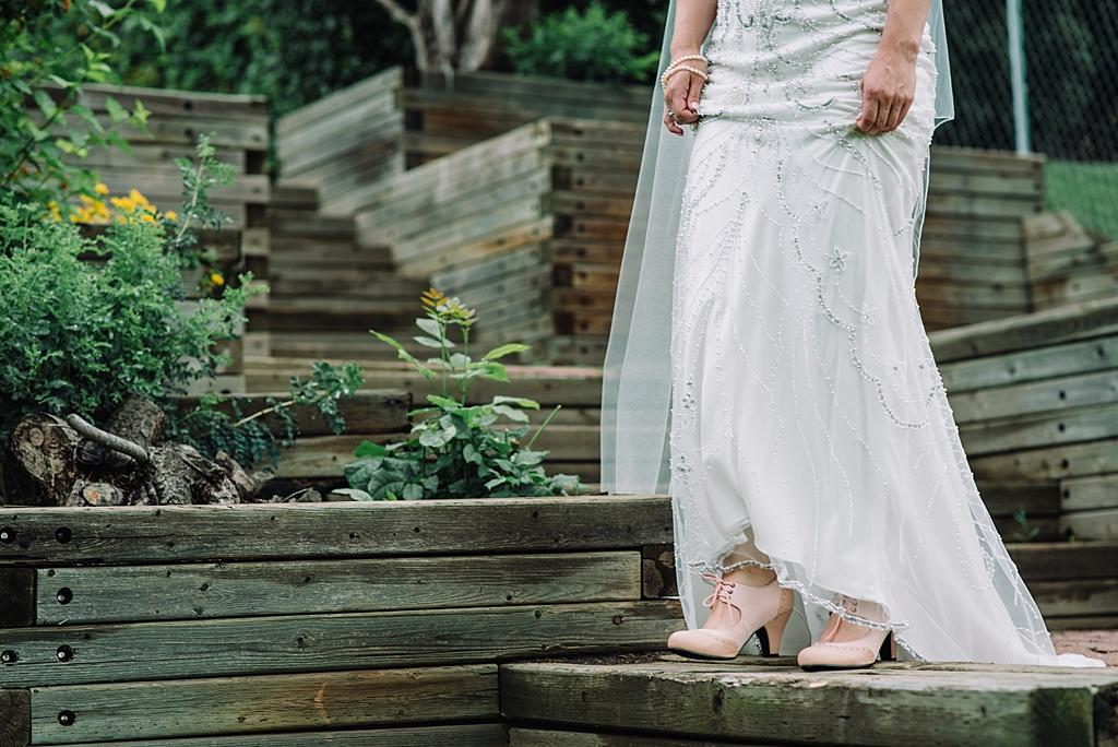 bride-wearing-vintage-shoes