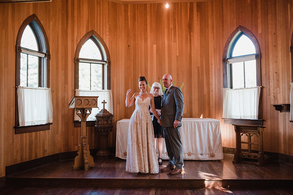 bride-groom-celebrating-after-ceremony-fort-edmonton-wedding