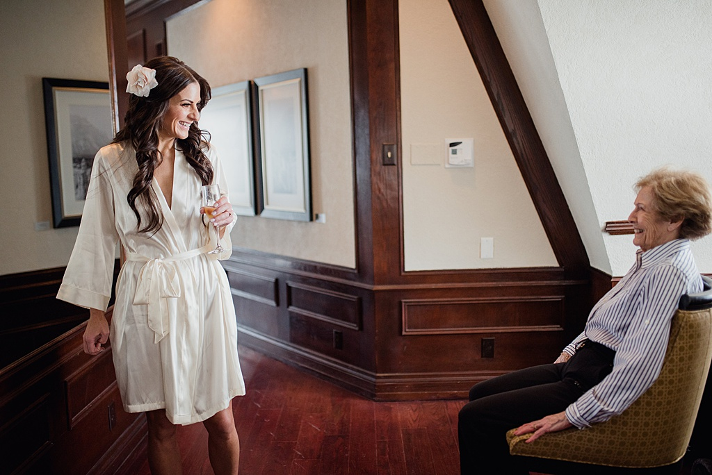 Bride and her grandma at the fairmont Banff springs