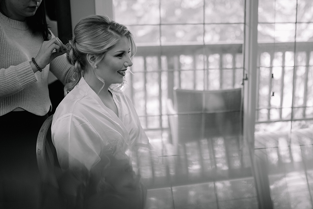 bridesmaid-getting-hair-done