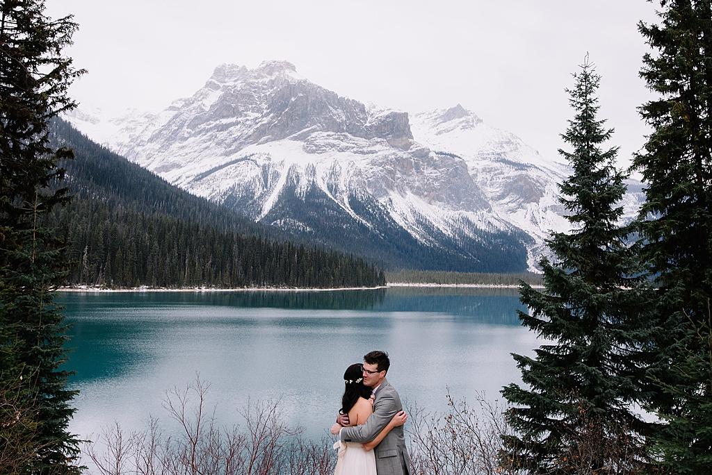Emerald Lake Lodge Winter Wedding | Amy + Scott