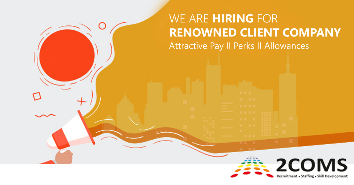 hIRING FOR RENOWNED COMPANY 1