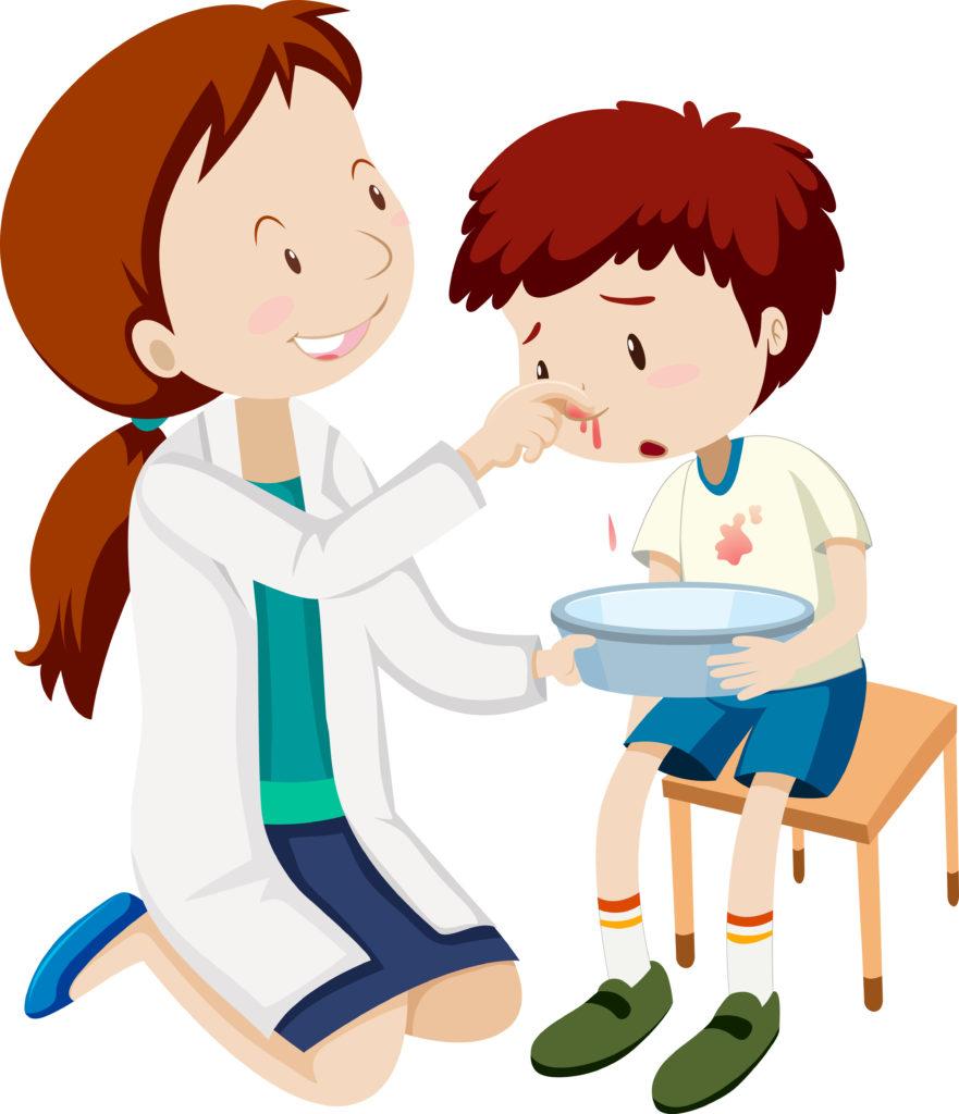 Nosebleed in child