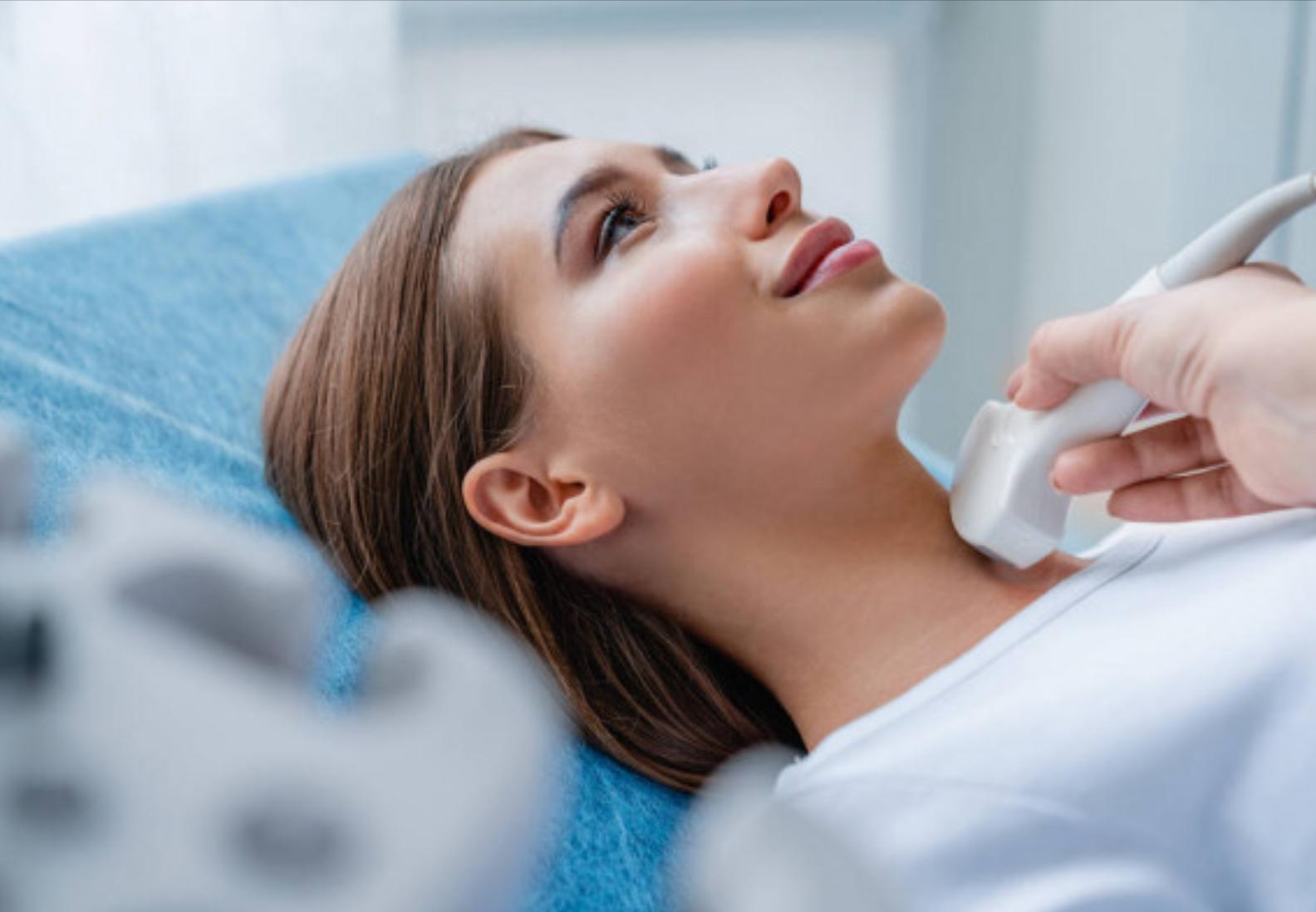 Ultrasound test of thyroid