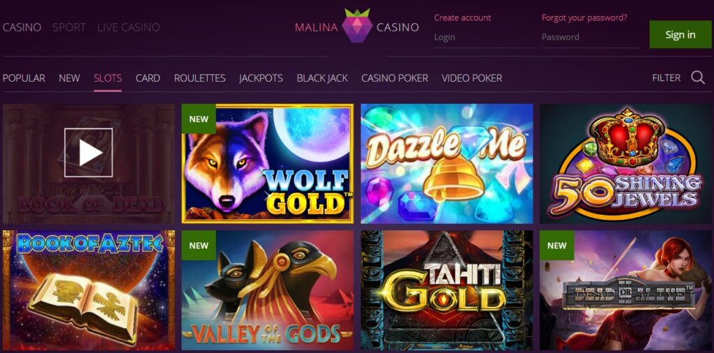 Slot Malina Casino