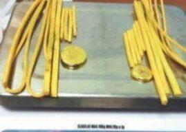 ಅಕ್ರಮ ಚಿನ್ನ ಸಾಗಾಟ; ಕಣ್ಣೂರು ವಿಮಾನ ನಿಲ್ದಾಣದಲ್ಲಿ ಇಬ್ಬರ ಬಂಧನ