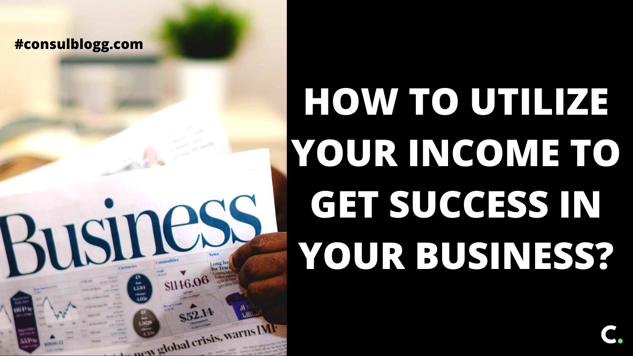 How to utilize your income to get success in your business.